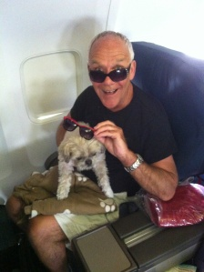 Desi and Chuck on Plane -5-29-13