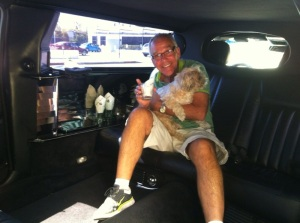 Desi and Chuck in Limousine - 9-5-13